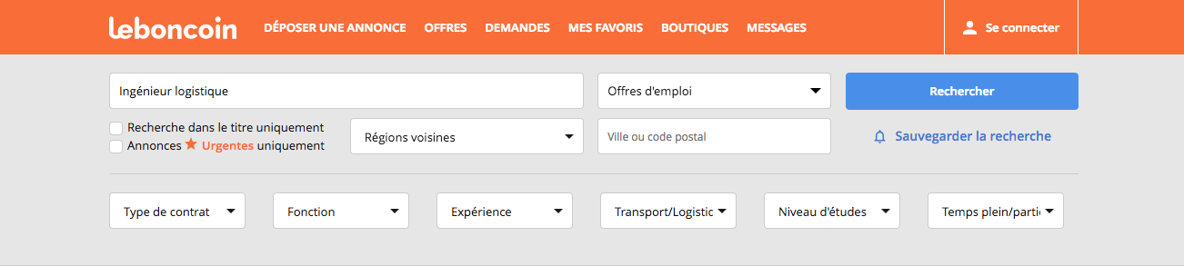 screenshot leboncoin.fr